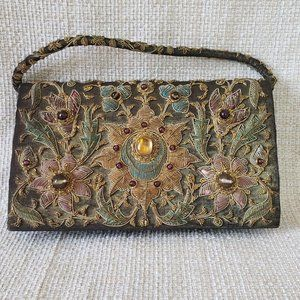 Vintage Zardozi Embellished Clutch Evening Bag